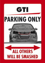 GTI PARKING ONLY