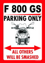 F 800 GS PARKING ONLY
