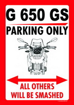 G 650 GS PARKING ONLY